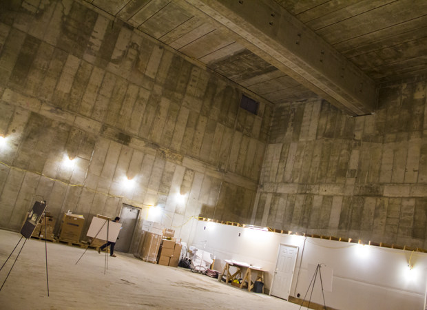 This raw space will be turned into a state-of-the-art 249-seat auditorium.