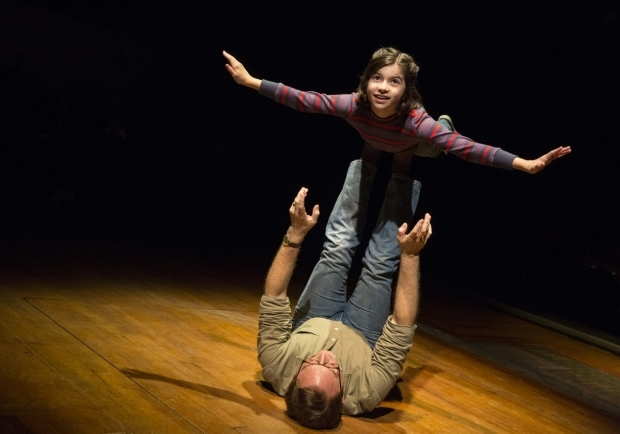 Gabriella Pizzolo and Michael Cerveris in Broadway's Fun Home.