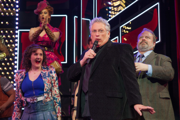 Kinky Boots scribe Harvey Fierstein joins the cast on stage to celebrate.