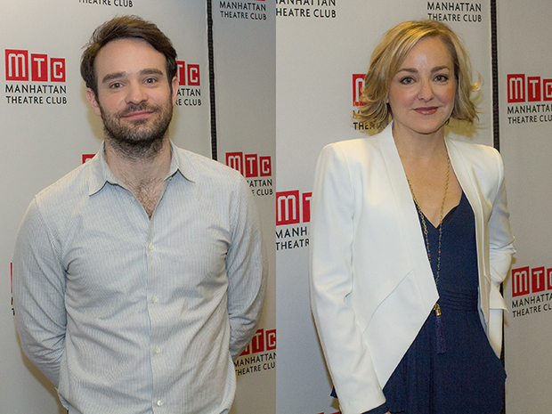 Incognito stars Charlie Cox and Geneva Carr meet for rehearsal at the Manhattan Theatre Club Rehearsal Studios.