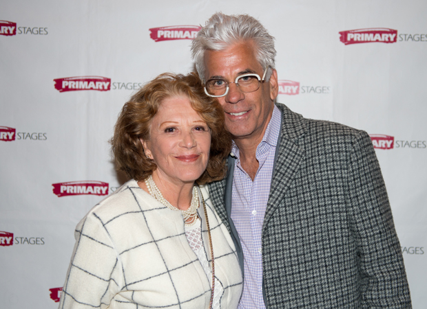 Linda Lavin and Steve Bakunas are on hand for the opening of Exit Strategy.
