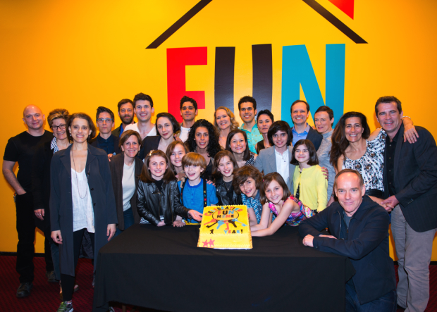 Fun Home's cast and creatives gather to commemorate the milestone.