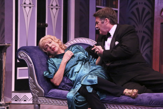 Glenne Headly and Stephen Caffrey in Stage Kiss, directed by Bart DeLorenzo, at the Geffen Playhouse.