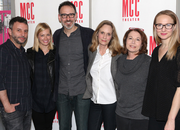 Trip Cullman, Beth Behrs, Erik Lochtefeld, Lisa Emery, Jacqueline Sydney, and Halley Feiffer are the cast and creative team of A Funny Thing...