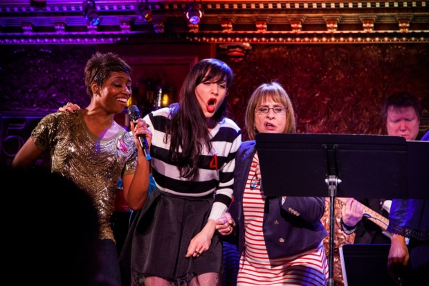Montego Glover, Lena Hall, and Patti LuPone at the 2015 Broadway Acts for Women benefit.