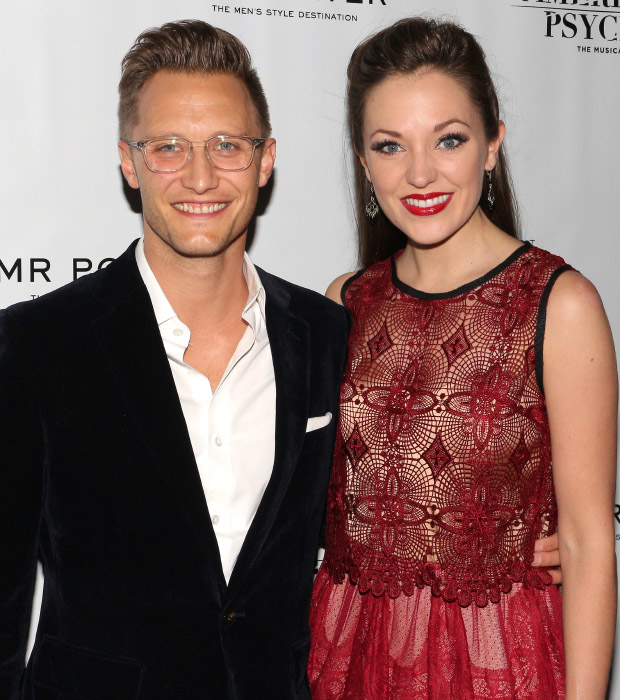 It's date night for Nathan Johnson and Laura Osnes.