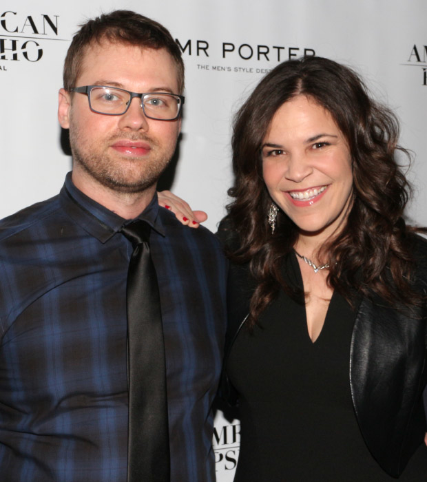 Lindsay Mendez walks the red carpet with her boyfriend, Philip Wakefield.