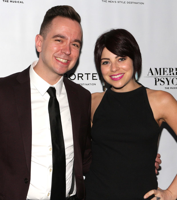 American Psycho Music Assistant Benjamin Rauhala shares a photo with Broadway favorite Krysta Rodriguez.