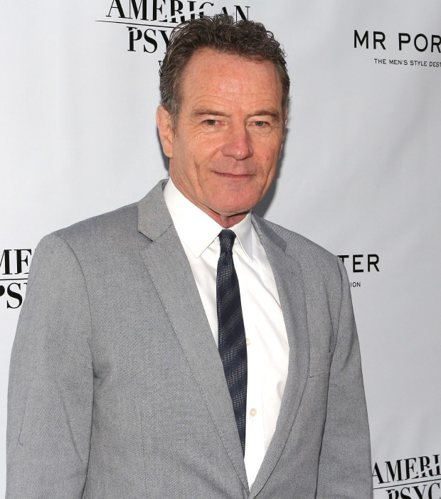 Tony winner Bryan Cranston poses for photos on his way into American Psycho.