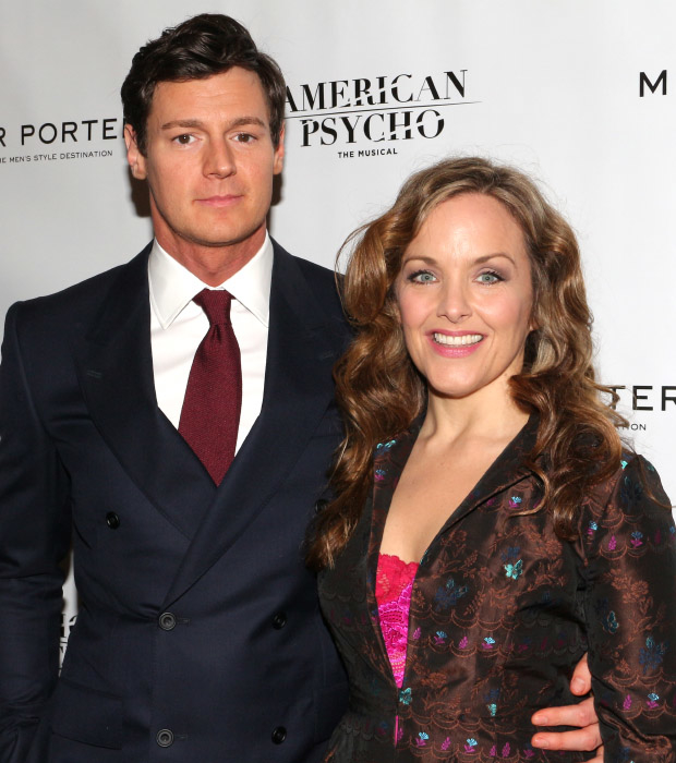 Benjamin Walker and Alice Ripley star in American Psycho on Broadway.