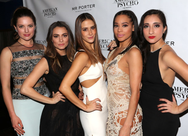 The ladies of American Psycho walk the red carpet at the opening-night afterparty.