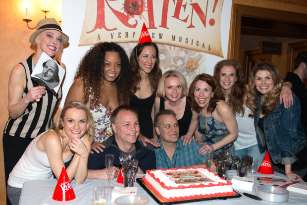 The ladies of Something Rotten! celebrate the show's first anniversary.