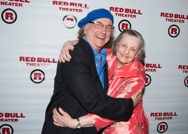 Mark Linn-Baker and Dana Ivey are thrilled to celebrate their opening night.