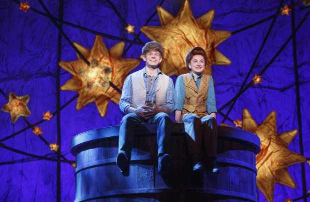 Andrew Keenan-Bolger as Jesse Tuck and Sarah Charles Lewis as Winnie Foster in Tuck Everlasting.