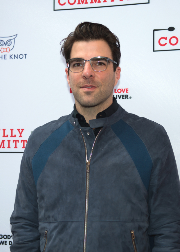 Zachary Quinto walks the red carpet at the opening of Fully Committed.