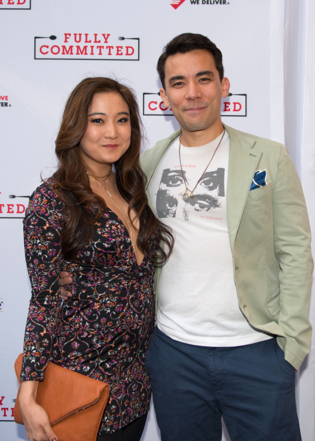 Ashley Park and Conrad Ricamora of The King and I go on a friend date to Fully Committed.