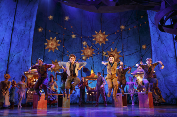 Andrew Keenan-Bolger, Sarah Charles Lewis, and the company of Tuck Everlasting perform Casey Nicholaw's energetic choreography.
