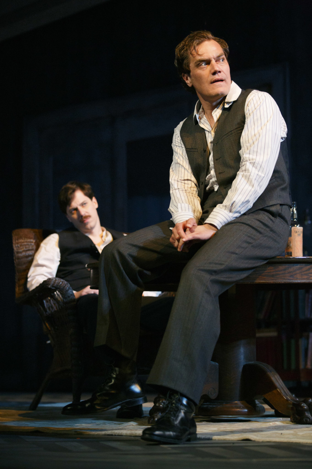 John Gallagher Jr. and Michael Shannon play Tyrone brothers Edmund and Jamie, respectively, in Roundabout's production of Long Day's Journey Into Night.