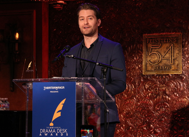 Matthew Morrison takes the podium to announce the 2016 Drama Desk Award nominations.