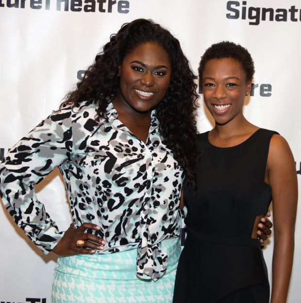 Orange Is the New Black favorites Danielle Brooks and Samira Wiley reunite at the opening of Daphne's Dive at Signature Theatre.