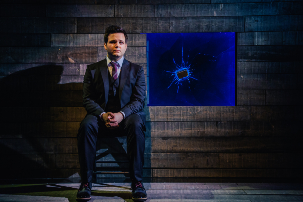 Derek DalGaudio in In & Of Itself, directed by Frank Oz, at the Geffen Playhouse.