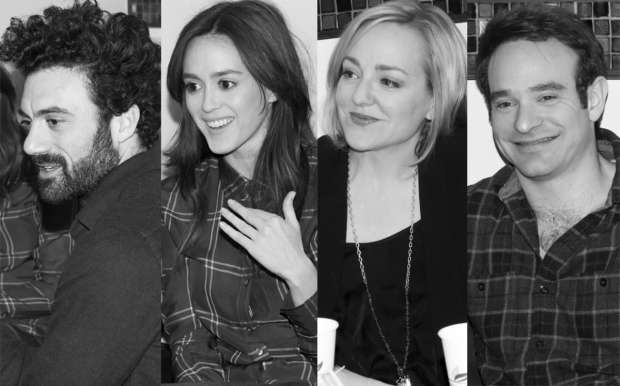 The cast of Incognito: Morgan Spector, Heather Lind, Geneva Carr, and Charlie Cox.
