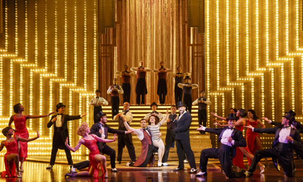 The cast of Cirque du Soleil's Paramour, directed by Philippe Decouflé, at Broadway's Lyric Theatre.