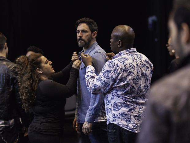 Marissa Jaret Winokur, Steve Kazee, and Tituss Burgess took part in a research and development staging of Merrily We Roll Along, directed by Michael Arden.