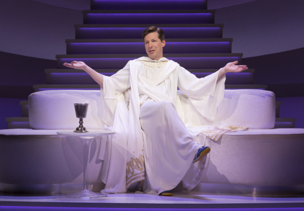 Sean Hayes stars in David Javerbaum's An Act of God, directed by Joe Mantello, at Broadway's Booth Theatre.