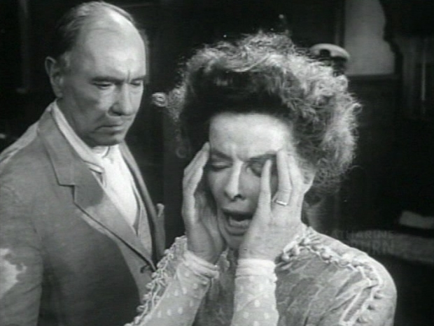 Ralph Richardson and Katharine Hepburn in the 1962 film version of Eugene O'Neill's Long Day's Journey Into Night, directed by Sidney Lumet.