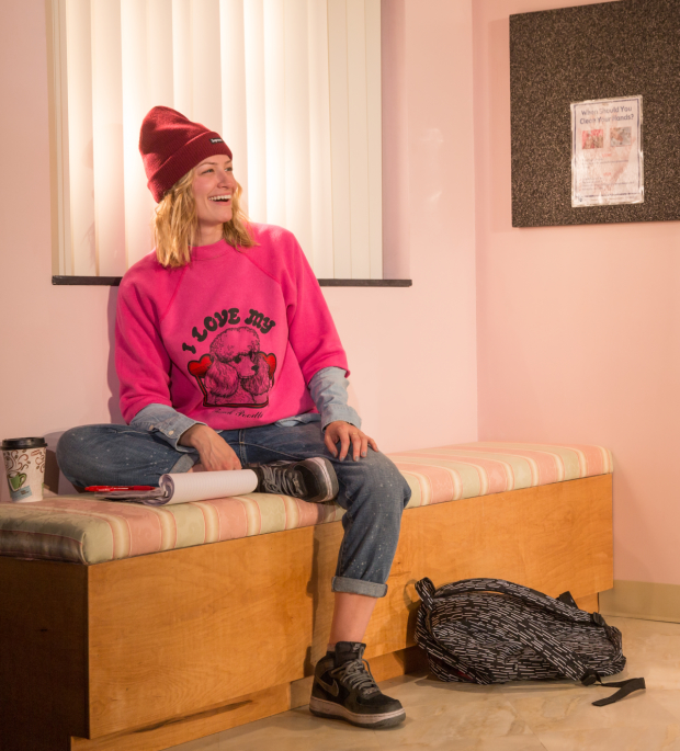 Beth Behrs makes her off-Broadway debut in Halley Feiffer's latest play, A Funny Thing Happened on the Way to the Gynecologic Oncology Unit at Memorial Sloan-Kettering Cancer Center of New York City.