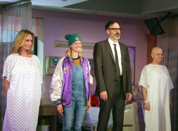 Lisa Emery, Beth Behrs, Erik Lochtefeld, and Jacqueline Sydney take their opening-night bow.