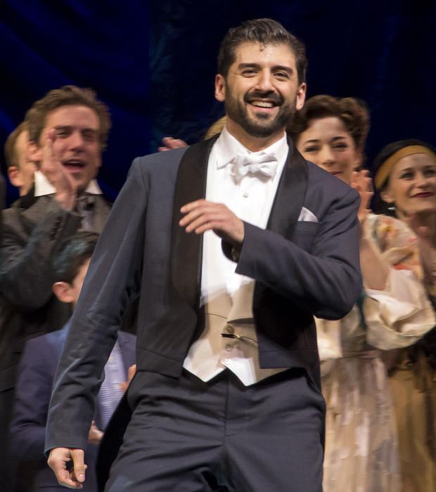 Tony Yazbeck as Finding Neverland's J.M. Barrie.