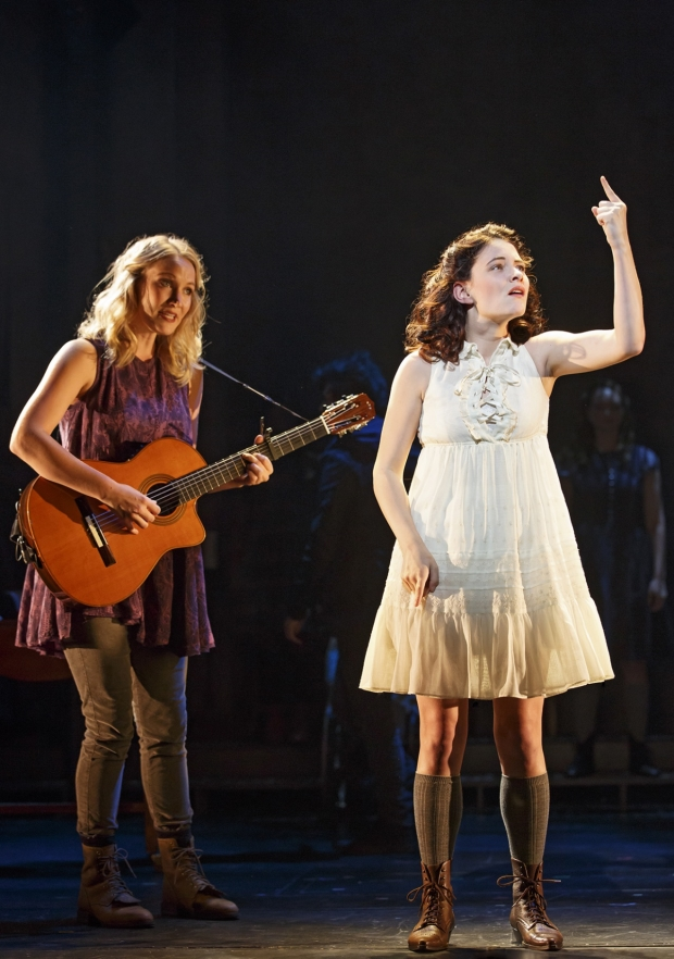 Katie Boeck and Sandra Mae Frank in Michael Arden's revival of Spring Awakening.