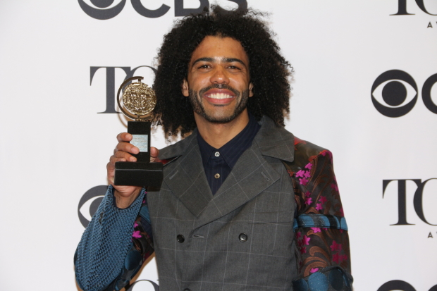 Daveed Diggs wins the Tony Award for Best Performance by an Actor in a Featured Role in a Musical.
