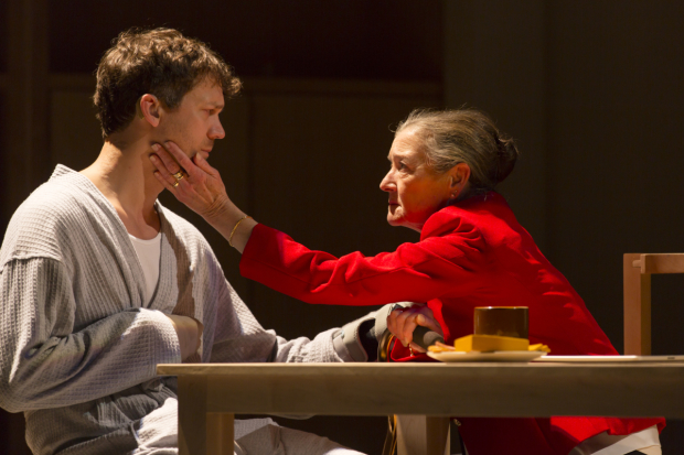 Russell Harvard and Nancy E. Carroll in I Was Most Alive With You, written and directed by Craig Lucas, at the Huntington Theatre.