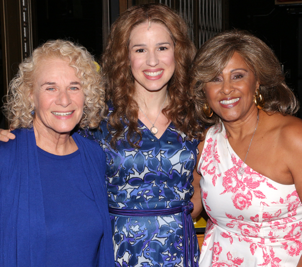 Carole King and Darlene Love join Beautiful star Chilina Kennedy to celebrate the show's 1,000th performance at the Stephen Sondheim Theatre.