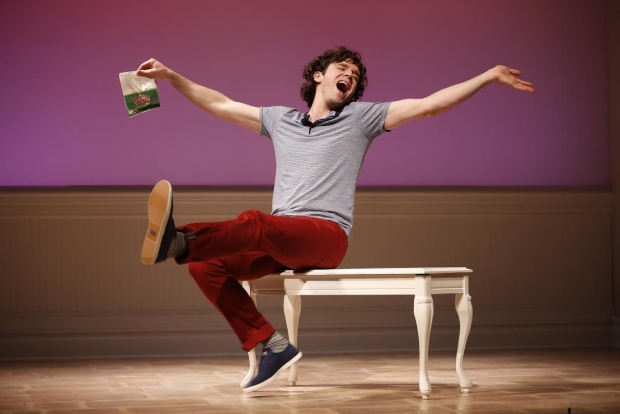 Michael Urie in Buyer & Cellar, written by Jonathan Tolins, and directed by Stephen Brackett, at Westport Country Playhouse.