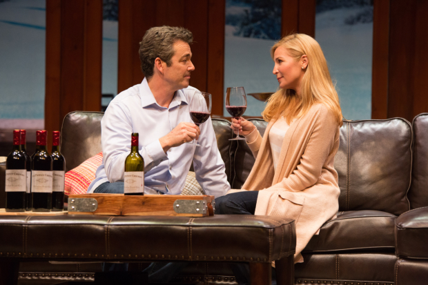 Jon Tenney and Jennifer Westfeldt in Big Sky, directed by John Rando, at the Geffen Playhouse.