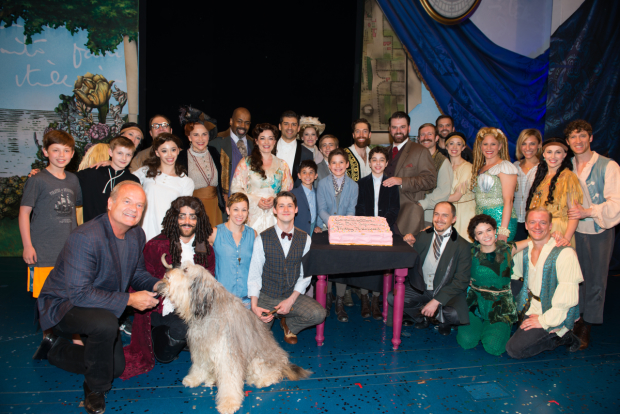 Kelsey Grammer joins the company for a celebratory photo.