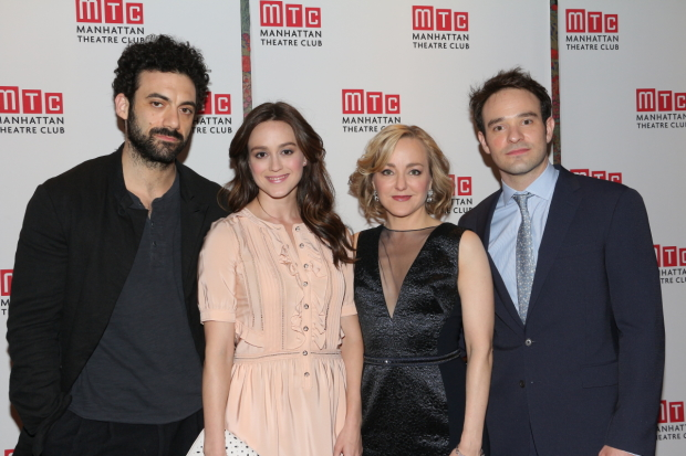 Morgan Spector, Heather Lind, Geneva Carr, and Charlie Cox play their final performance of Nick Payne's Incognito on July 10.
