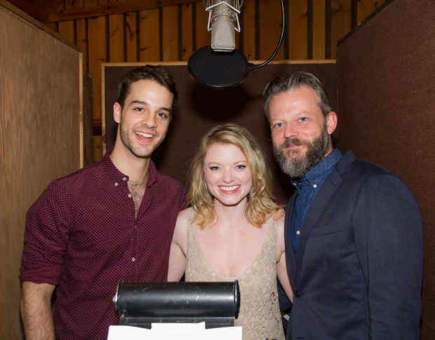 Ryan Vona, Ruby Lewis, and Jeremy Kushnier record the cast album of Cirque du Soleil's Paramour.