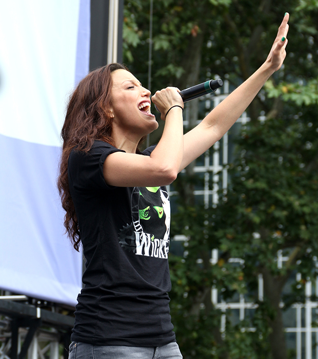 """Caroline Bowman sings """"The Wizard and I"""" from Wicked at Broadway in Bryant Park."""