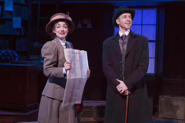 Megan McGinnis and Adam Halpin in the off-Broadway production of Daddy Long Legs.