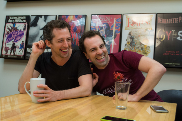 Something Rotten! is now running at the St. James Theater, starring Josh Grisetti and Rob McClure.