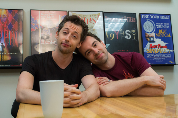 Gosh Grisetti and Rob McClure play Nigel and Nick Bottom in Something Rotten!