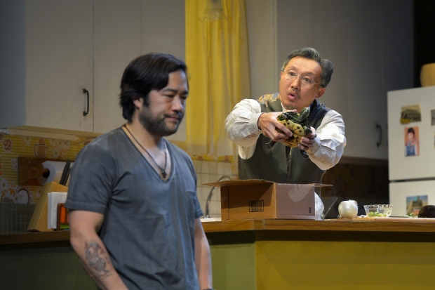 Tim Kang and Steven Yang in the Berkeley Rep production of Julia Cho's Aubergine.