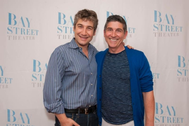 Bay Street Artistic Director Scott Schwartz shares a photo with Leonard Pelkey creator and performer James Lecesne.