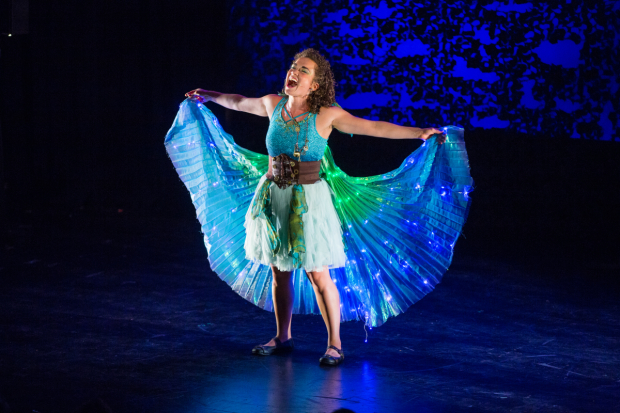 Elly Noble stars in the title role of Tink!, directed by Rachel Klein, for NYMF at the Pearl Theatre.