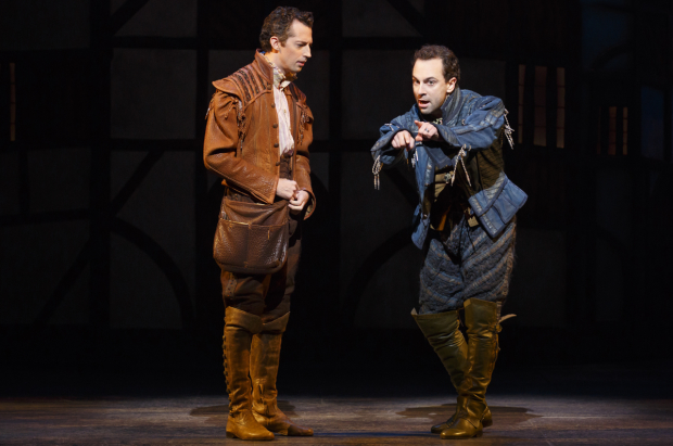 Josh Grisetti and Rob McClure star as Nigel and Nick Bottom in Something Rotten!